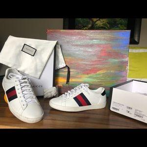 Men's Gucci ACE shoes European size 41 red/blk